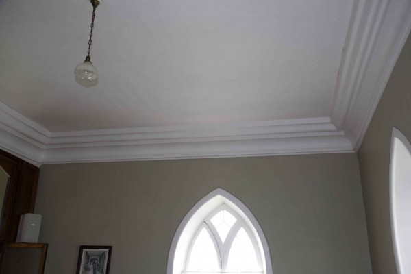 West Cornice Moulding Sunday School Room - Shown after Repair