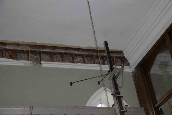 West Cornice Moulding Removed